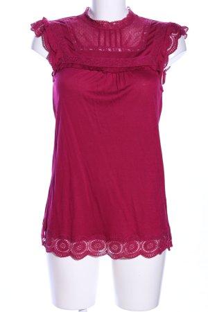 Oasis ärmellose Bluse rot Casual-Look
