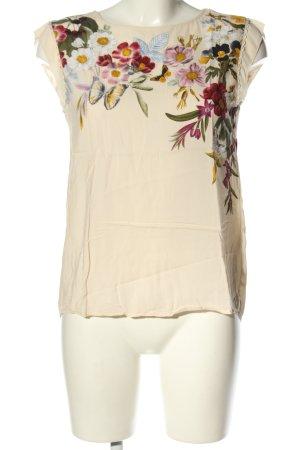 Oasis ärmellose Bluse creme Blumenmuster Casual-Look