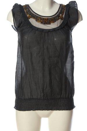 Oasis ärmellose Bluse schwarz Casual-Look