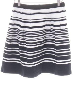Oasis Jupe asymétrique blanc-noir motif rayé style décontracté