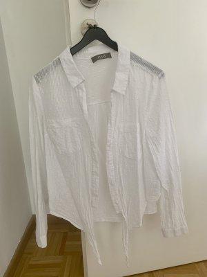 Oasis Kopertowa bluzka w kolorze białej wełny-biały