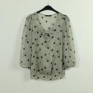Oasis Transparentna bluzka biały-czarny Poliester
