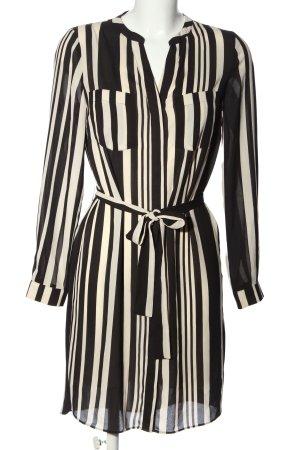 Oasis Blusenkleid schwarz-wollweiß Streifenmuster Casual-Look