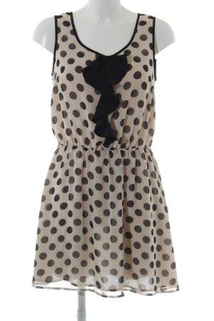 Oasis Blouse Dress cream-black spot pattern casual look