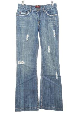 Oasis Boot Cut Jeans dunkelblau Nietenelemente