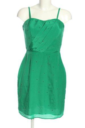 Oasis Sukienka gorsetowa zielony Wzór w kropki W stylu casual
