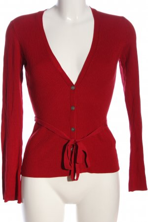Oasis Cardigan rot Streifenmuster Casual-Look