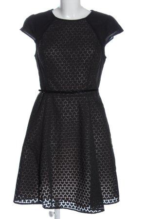 Oasis Robe de cocktail noir-gris clair imprimé allover élégant