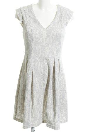 Oasis Cocktailkleid weiß-hellgrau abstraktes Muster Elegant