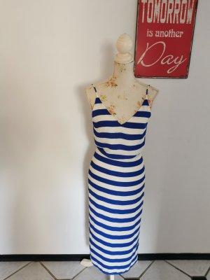 Oasis Chiffon Dress white-blue polyester