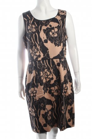 Oasis Etuikleid schwarz-beige Blumenmuster Business-Look