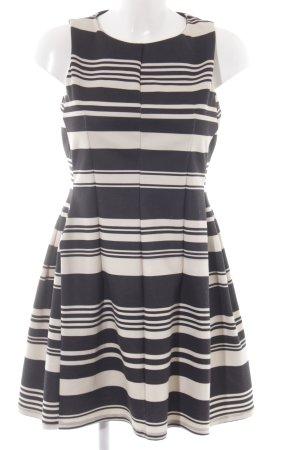 Oasis Etuikleid schwarz-creme Streifenmuster Casual-Look