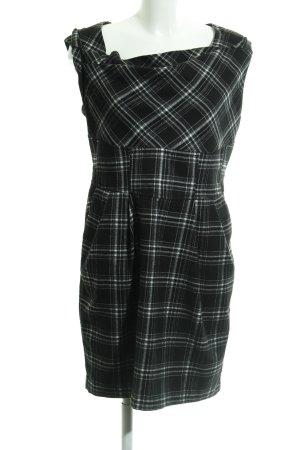 Oasis Etuikleid schwarz-weiß Karomuster Elegant
