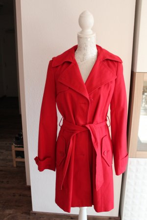 Oasis Trenchcoat rouge coton