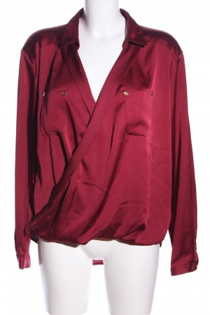 Oasis Glanzbluse rot Business-Look
