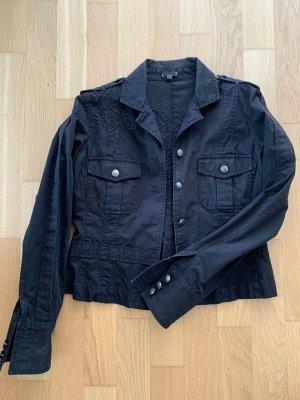 Oasis Veste en jean noir coton