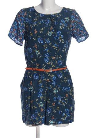 Oasis Jumpsuit blau-creme Blumenmuster Casual-Look