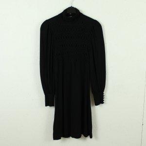 Oasis Robe à manches longues noir viscose
