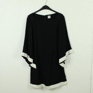 Oasis Robe mi-longue noir-blanc viscose