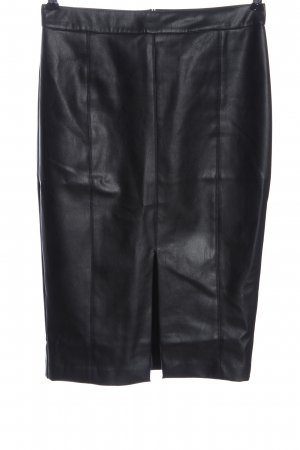 Oasis Faux Leather Skirt black casual look