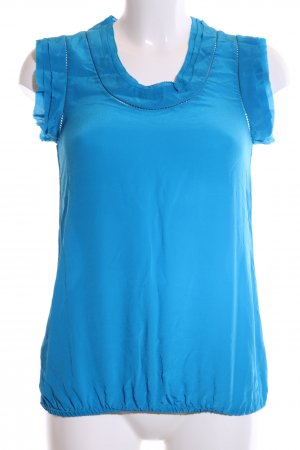Oasis Kurzarm-Bluse blau Casual-Look