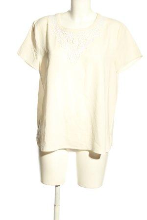 Oasis Blusa de manga corta blanco puro look casual