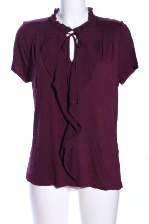 Oasis Blouse à manches courtes violet-violet viscose