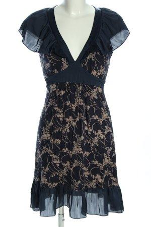 Oasis Kurzarmkleid schwarz-wollweiß Allover-Druck Elegant