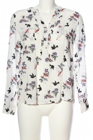 Oasis Langarm-Bluse Allover-Druck Casual-Look