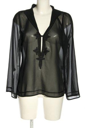 Oasis Long Sleeve Blouse black casual look