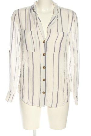 Oasis Langarm-Bluse weiß-pink Streifenmuster Casual-Look