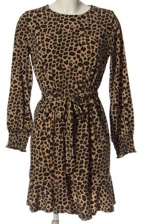 Oasis Sukienka z długim rękawem Na całej powierzchni Elegancki