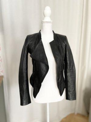 Oasis Veste en cuir noir cuir