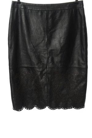 Oasis Jupe en cuir noir style décontracté
