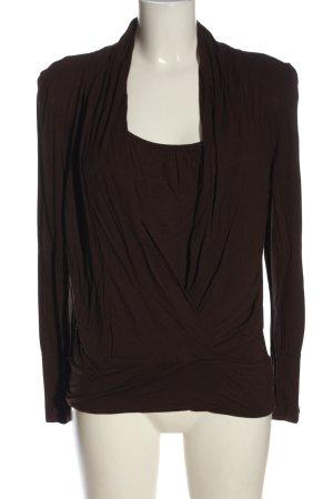 Oasis Koszulka z długim rękawem brązowy W stylu casual