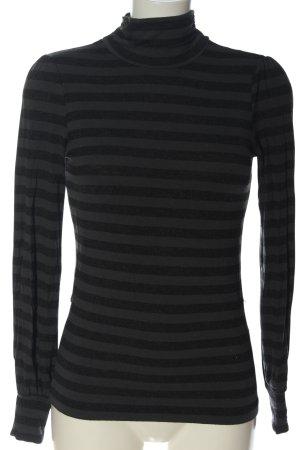 Oasis Longsleeve light grey-black striped pattern casual look