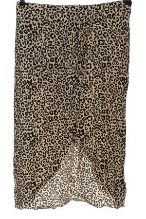 Oasis Jupe mi-longue crème-noir imprimé allover style décontracté