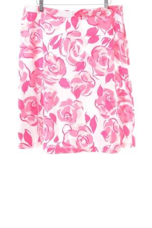 Oasis Midirock weiß-pink Blumenmuster Casual-Look