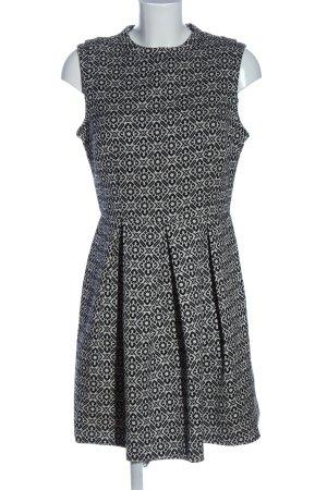 Oasis Minikleid schwarz-weiß Allover-Druck Casual-Look