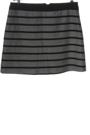 Oasis Minirock schwarz-weiß Streifenmuster Casual-Look