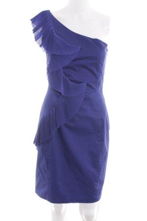 Oasis Vestido de un hombro azul estilo extravagante