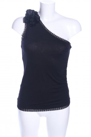 Oasis One-Shoulder-Top schwarz extravaganter Stil