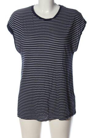Oasis T-shirt rayé noir-blanc motif rayé style décontracté