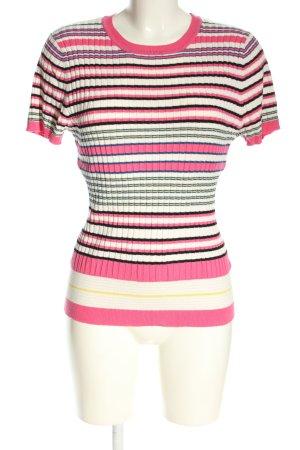 Oasis Geribd shirt gestreept patroon casual uitstraling