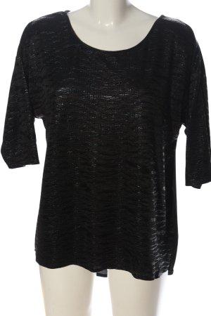 Oasis Schlupf-Bluse schwarz meliert Casual-Look