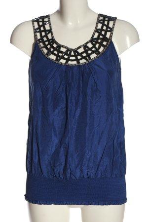 Oasis Blouse en soie bleu style décontracté
