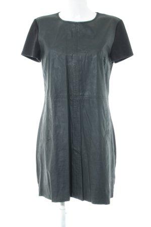 Oasis Shirtkleid schwarz Lederelemente