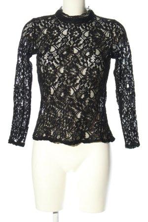 Oasis Spitzenbluse schwarz Webmuster Elegant