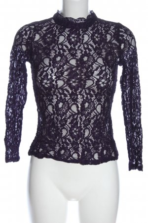 Oasis Lace Blouse blue allover print casual look