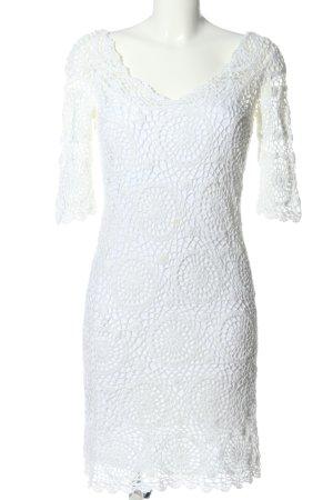 Oasis Koronkowa sukienka biały W stylu casual
